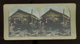 Early 1900's Stereoview of Miner's Home at Cape Nome Alaska