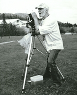 John Hatch with tripod